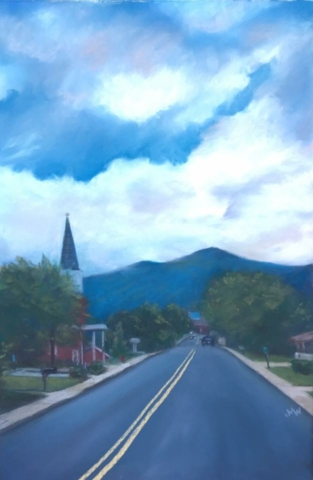 Pastel painting Hazelwood Avenue